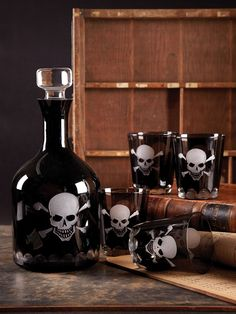 Skull tumblers | Pussy Home Boutique £15.99  Skull decanter £50.00