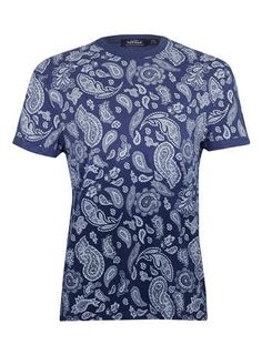 Blue Paisley Dip Dye T-Shirt - New In df366710313b6