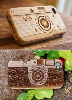Wood Camera iPhone Cases from Photojojo