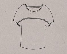 T-shirt Aime comme Minute - Dessin technique Girl Dress Patterns, Blouse Patterns, Skirt Patterns, Maxi Dress Tutorials, Fleece Hats, Pattern Drafting, Sewing Projects, T Shirt, Pillowcase Dresses