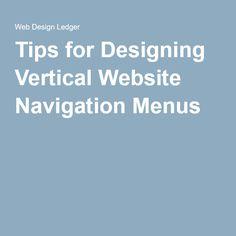 Tips for Designing Vertical Website Navigation Menus