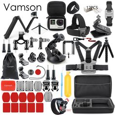 Vamson for Gopro Accessories Set for go pro hero 6 5 4 3 kit  Price: $45 & FREE Worldwide Shipping  #gadgets #gadgetsale #newtech #gadgethawk #freeworldwideshipping #thegadgethawk #toptech #electronics #onlinegadgets #ecommercetech