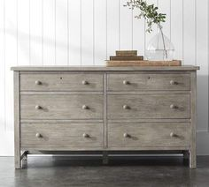 Farmhouse Extra-Wide Dresser I LOVE this Farmhouse Dresser. The perfect wood fora  modern farmhouse bedroom. Mixes beautifully with any bedroom decor! #affiliate