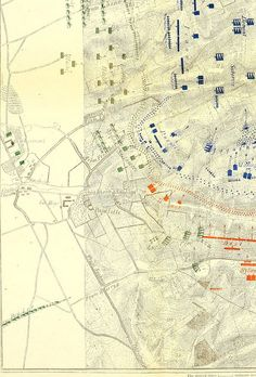 """1815 Waterloo Map. From: Page 468 of """"Waterloo letters : a selection from original and hitherto unpublished letters bearing on the operations of the 16th, 17th, and 18th June, 1815, by officers who served in the campaign"""" (1891). via British Library."""
