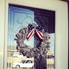 Army wreath on Etsy, $40.00 #home #decor