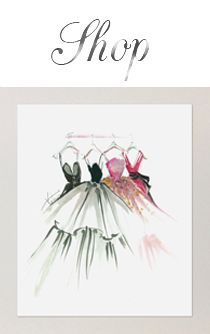 """Shop"" for Four Dresses FROM: Fashion Illustration 