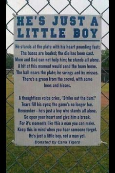 please remember this when your little boys are out there...they are just that...little boys.