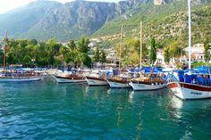Leisure boats in port Gocek http://www.traveltofethiye.co.uk/explore/attractions/port-gocek-turkey/