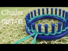 Loom Knitting: Chain Cast On - http://www.knittingstory.eu/loom-knitting-chain-cast-on/