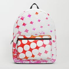 Pink Grungy Pop Art Backpack by Samantha Lynn. Worldwide shipping available at Society6.com. Just one of millions of high quality products available.