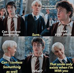 Read Memes from the story DRARRY by with 738 reads. Draco Harry Potter, Harry Potter Comics, Harry Potter Anime, Arte Do Harry Potter, Harry Potter Ships, Harry Potter Characters, Harry Potter Universal, Harry Potter World, Draco Malfoy Memes