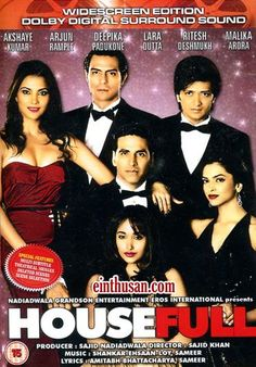Housefull Hindi Movie Online - Akshay Kumar, Deepika Padukone, Arjun Rampal and Jiah Khan. Directed by Sajid Khan. Music by Shankar-Ehsaan-Loy. 2010 [U/A] BLURAY ENGLISH SUBTITLE
