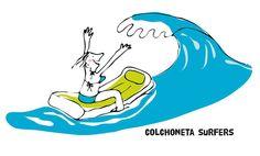 Colchoneta surfers. Invoking the spirit of Hokusai. #illustration by @nataliaresnik  T-shirt available at ilusos.es
