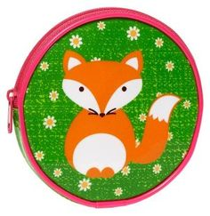 Critter Fox in Daisy Field Coin Pouch 4.5'' x 4.5'' by Barnes & Noble
