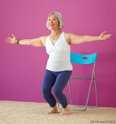 Utkatasana (Chair Pose). Try these poses for healthy bones: www.yogajournal.com/practice/2885