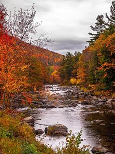 An autumn scene near Keene, New York