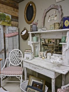 Small Farm Table, Fabulous Shutters, Vintage Accessories