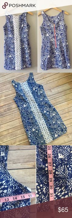 Size 4 Lilly for Target Navy White Dress Gorgeous Lilly Pulitzer for Target dress! Navy & white with embroidery down the front and back zipper. Form fitting & will hug your curves! Size 4, bust and length are pictured. Excellent condition. No trades, only offer button no comments Lilly Pulitzer for Target Dresses