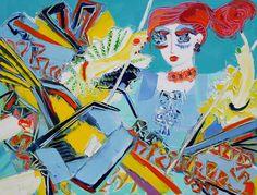 La balançoire - 116 x 89 cm - Huile sur toile