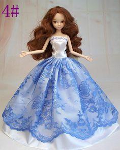 Doll in Blue white net Party Dress 4