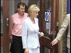 Royal divorce made absolute CMS Zoltan Solymosi intvwd SOT it was a great honour LMS Diana leaving building shaking men ZOOM IN on hand with her...
