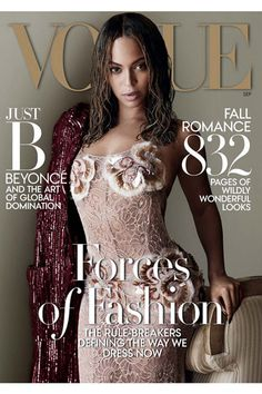 B Queen@ cover of Vogue, September 2015. She keeps her image as a style icon.