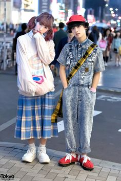 San To Nibun No Ichi Staffers in Harajuku w/ Cute Resale Fashion