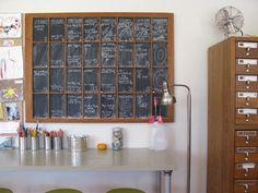 window frame with chalkboard paint