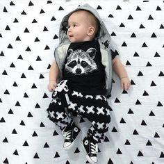 Nuevo bebé otoño verano muchachos de la ropa de manga corta Gary niñas zorro sistema ocasional ropa de bebé