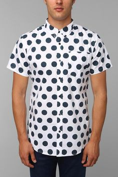 Charles & 1/2 Polka Dot Button-Down Shirt #urbanoutfitters