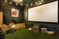 The other end of the theatre room. Love it! Orlando Theme Home Vacation Rental | hookedonhouses.net