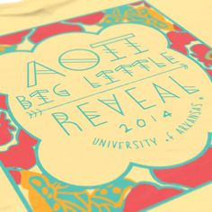 Alpha Omicron Pi - AOII - Big Little Reveal design - Sorority shirts - check us out at b-unlimited.com
