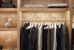 This closet. The Apartment Glam Closet, Luxury Closet, The Line Apartment, Wooden Closet, Rustic Closet, Coat Closet Organization, Built In Dresser, Wardrobe Furniture, Vanity Room