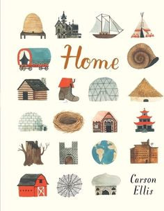 Home-This debut picture book from the artist for the band The Decemberists is filled with fairy-tale-like paintings of homes of all sorts: simple homes, floating homes, secret homes and silly homes; homes where bees live, where a Japanese businessman lives and where the artist herself lives; and fantastical homes whose locations and occupants are a mystery. Released on February 24, 2015, Home is a visual treat that leaves plenty of room for imagination.