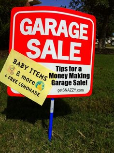 Garage Sale Sign - Tips for a money making garage sale yard sale getsnazzy