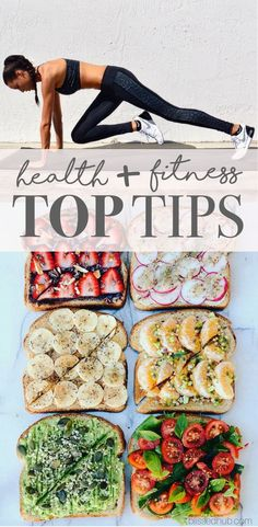 HEALTH + FITNESS TOP TIPS - workouts, meal plans, healthy tips, at-home exercises + more! - These tips are easy to follow at any level! Can't wait to try some of these tips this year!