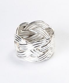 Take a look at this Sterling Silver Braided Ring by Moda Designs on #zulily today! $14 !!