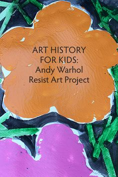 Children six and older will learn about Andy Warhol and Pop art with this engaging resist art project. Si può sostituire il nastro con il pastello a cera verde. Andy Warhol, Pop Art, Art History Lessons, Ecole Art, School Art Projects, Art Lessons Elementary, Arte Pop, Keith Haring, Preschool Art