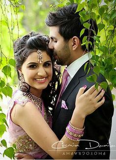Dulha and dulhan Indian bride and groom Desi wedding Punjabi Pakistan