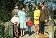 The British Royal Family, ca. 1966.