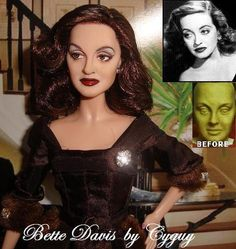 OOAK Bette Davis Barbie Doll All About Eve Repaint Reroot Fashion Royalty WOW | eBay