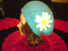 Slouch beret  with flower
