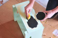 pintura pizarra diy caja madera menta mint diy
