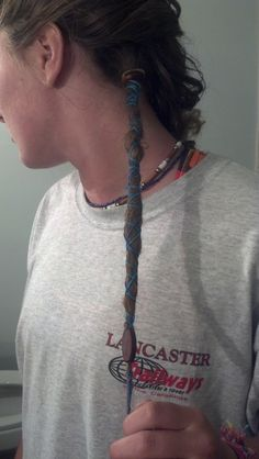 one dread, bottom layer of hair; i like!