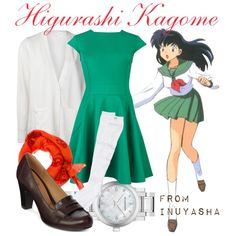 inuyasha clothing style | fashion look from August 2013 featuring Ted Baker dresses, Alexander ...