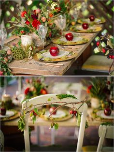whimsical fairytail themed wedding table http://www.perfectstatement.com/ design & Claire Marika Photogarphy snow white wedding @pseventdesign