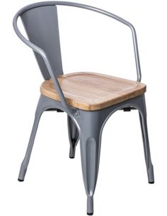 Krzesło Paris Arms Wood srebrny jesion