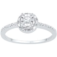 1/4 ct. tw. Diamond Promise Ring in 10K White Gold ($323) ❤ liked on Polyvore featuring jewelry, rings, white, diamond rings, white ring, white gold band ring, white gold diamond jewelry and band rings
