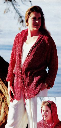 Crocheted Hoodie Vintage Crochet Pattern Download by MomentsInTwine on Etsy