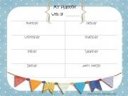 Printable to organize your weekly events